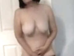 wife masturbating standing