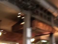 Upskirt voyeur video of a blonde teen