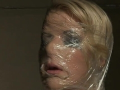 Anita Blue is covered in foil for the master