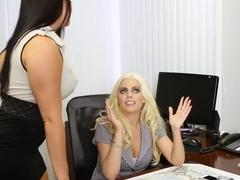 Best pornstars Gabriella Paltrova, Brittany Amber and Mackenzee Pierce in horny threesome, brunett.
