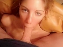 Blond Deepthroat Oral-Stimulation Ending With Cumswallow