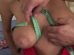 Dark haired chick Candy Alexa is fucking on camera