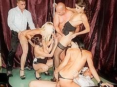 Leonelle Knoxville, Kari, Angie, Veronica Diamond in 5 Incredible Orgies, Scene #02