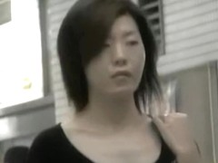 Intense Shuri sharking video of two brown-haired Japanese sweeties