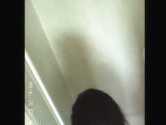 Hot ebony woman caught on hidden shower spy cam