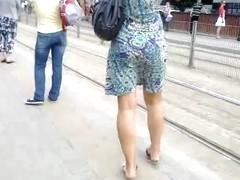 Mature girl dress legs