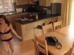 Hot Busty Housesitter caught on camera