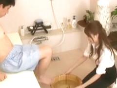 Exotic Japanese model Rina Fukada, Yuki Takarabe in Amazing Fetish, Handjobs JAV scene