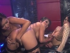 Gianna Lynn, Lana Croft and Sasha Hollander get wet
