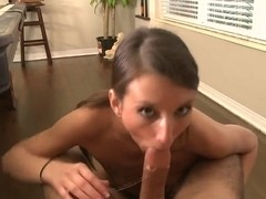 Deepthroat queen Katie Jordin demonstrates her skills