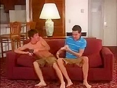 Twink boyfriends take turns bottoming in gay anal