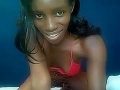 I'm sucking a dildo in my amateur ebony sex video