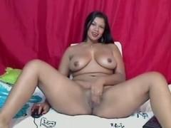 sexy busty latina girl masturbates creamy orgasm