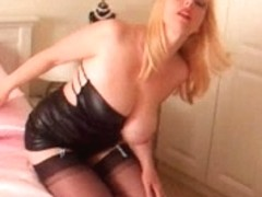 Hot hawt older golden-haired mother I'd like to fuck nylons heels tease