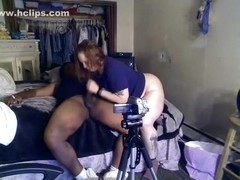 interracial pair fuck in front of camera.