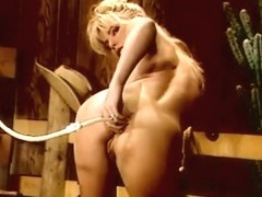 Sexy young blonde with perky tits loves to clean out her asshole with water