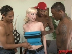 Natural tits slut all holes railed hard by big black cocks