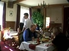 Fucked In Public Restaurant Threesome - LostFucker