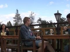 Kira in a pair of guys slammed kira in an outdoor sex vid