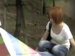 Sharking of two Japanese chicks while they undress