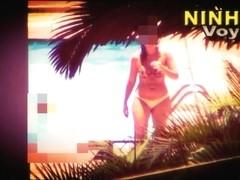 Hot Neighbor swimming