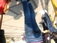 spy sexy teens ass in station romanian