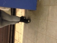 Candid Booty on Train Platform