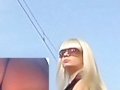 Tasty wazoo in blond up petticoat movie scene
