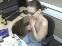 Downblouse Working Late