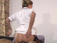 Nurse rides seniors cock