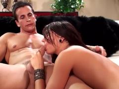 Horny pornstar Cassandra Nix in exotic blowjob, cunnilingus sex clip
