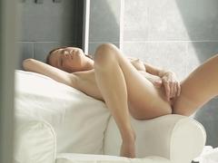 Horny pornstar Minnie Manga in Crazy Masturbation, Redhead porn video