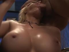 Amazing pornstar Holly Sampson in crazy threesome, blonde xxx scene