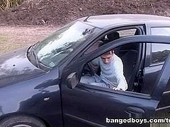 BangedBoys Video: Car Action