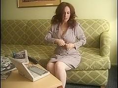 Delena dawn masturbating on the couch