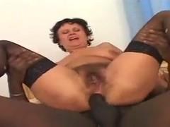 Black Fucks Her Hairy Mature Ass