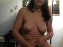 Asshole and wet pussy of pretty bitch need the flexy dildo