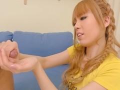 Fabulous Japanese slut Sakura Hime in Incredible JAV uncensored Foot Job video