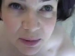 Cheating aged cougar wife large wang facial