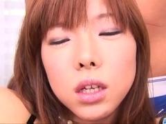 Serina Hayakawa plays with two cocks in threesome porn