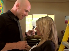 Johnny Sins gets sucked by busty Kristal Summers