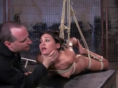 Jade Indica fucks her own ass in suspension!