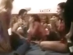 Lesbo college sorrority fuckfest party spied on (part 1 of two)