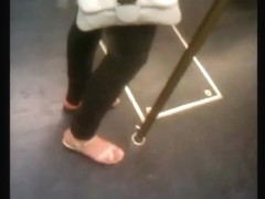 Feet in a metro train - U-Bahn-Fuesse