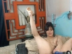 Busty Brunette Fisting And Toying Her Ass