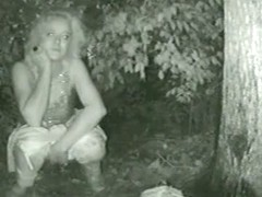Hot video of a white woman pissing outdoors