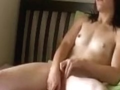 Brunette chick masturbates whilst dreaming about black cocks.