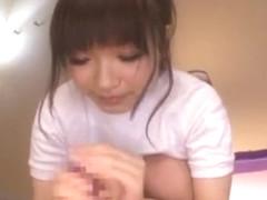 Fabulous Japanese whore Ami Morikawa in Best Handjobs, Facial JAV scene