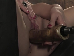 Amazing fetish, squirting sex scene with horny pornstar Sindee Jennings from Fuckingmachines
