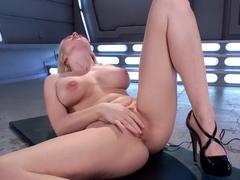Amazing big tits, fetish xxx clip with fabulous pornstar Christie Stevens from Fuckingmachines